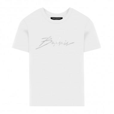 Balmain Kids T-Shirt Bianca - Balmain Kids 6m8061-ma030-100-balmainkids20