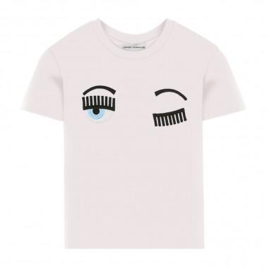 Chiara Ferragni Kids T-Shirt Bianca Flirting Bambina - Chiara Ferragni Kids cfkt005-chiaraferragnikids20