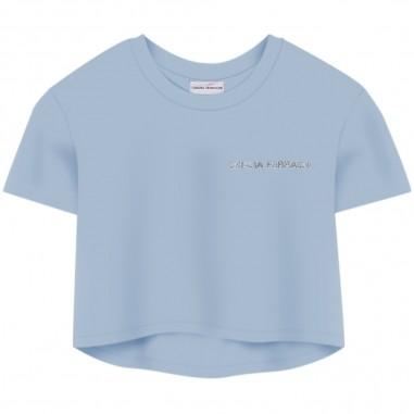 Chiara Ferragni Kids T-Shirt Celeste Bambina - Chiara Ferragni Kids cfkt013-sky-chiaraferragnikids20