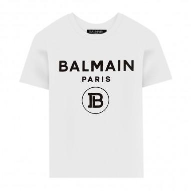 Balmain Kids T-Shirt Logo - Balmain Kids 6m8701-mx030-100ne-balmainkids20