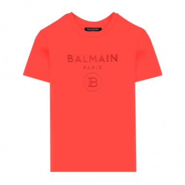 Balmain Kids T-Shirt Logo Velluto - Balmain Kids 6m8801-mx030-409-balmainkids20