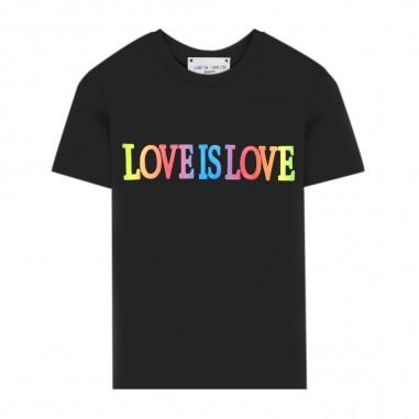 Alberta Ferretti Junior T-Shirt Nera Bambina - Alberta Ferretti Junior 022153-110-albertaferrettijunior20