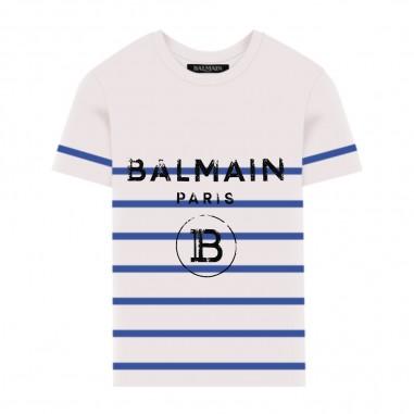 Balmain Kids T-Shirt Righe - Balmain Kids 6m8731-mx030-100az-balmainkids20