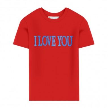 Alberta Ferretti Junior T-Shirt Rossa Bambina - Alberta Ferretti Junior 022146-040-albertaferrettijunior20