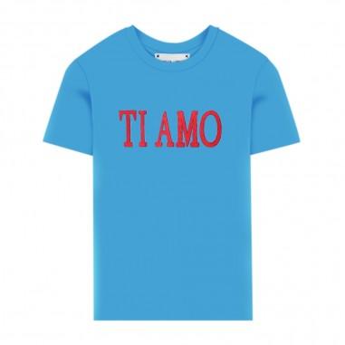 Alberta Ferretti Junior T-Shirt Turchese Bambina - Alberta Ferretti Junior 022146-051-albertaferrettijunior20