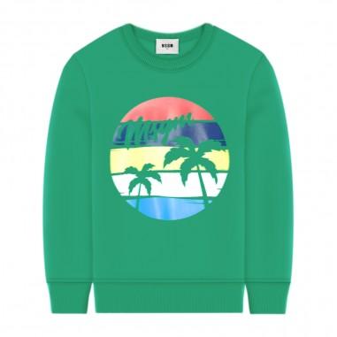 MSGM Green Sweatshirt - MSGM 022435-msgm20