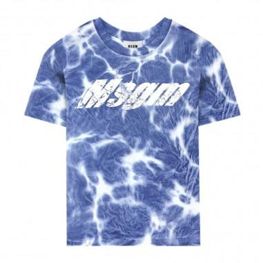MSGM T-Shirt Tie Dye Royal - MSGM 022402-130-msgm20