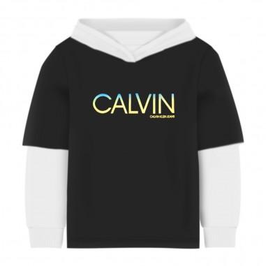 Calvin Klein Jeans Kids Felpa Cappuccio Bambino - Calvin Klein Jeans Kids ib0ib00467-calvinkleinjeanskids20