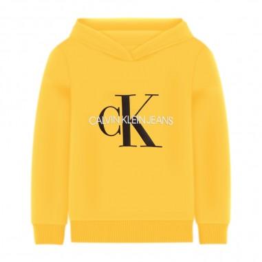 Calvin Klein Jeans Kids Unisex Yellow Hoodie - Calvin Klein Jeans Kids iu0iu00073-calvinkleinjeanskids20