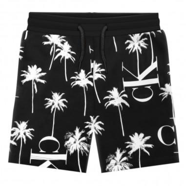 Calvin Klein Jeans Kids Bermuda Felpa Palme Bambino - Calvin Klein Jeans Kids ib0ib00444-calvinkleinjeanskids20