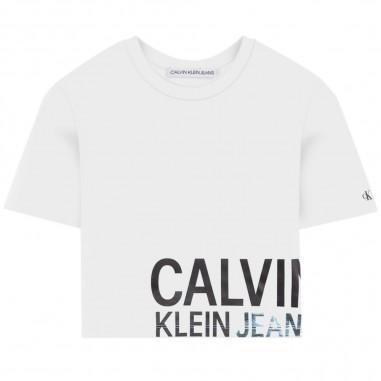 Calvin Klein Jeans Kids T-Shirt Logo Bambina - Calvin Klein Jeans Kids ig0ig00381-calvinkleinjeanskids20