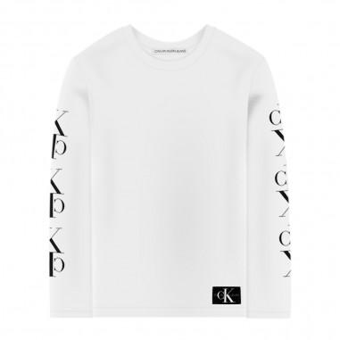 Calvin Klein Jeans Kids T-Shirt Monogram Bambino - Calvin Klein Jeans Kids ib0ib00387-calvinkleinjeanskids20