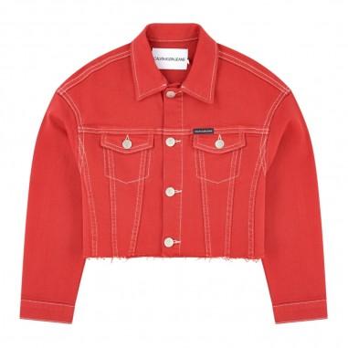 Calvin Klein Jeans Kids Girls Cropped Denim Jacket - Calvin Klein Jeans Kids ig0ig00370-calvinkleinjeanskids20