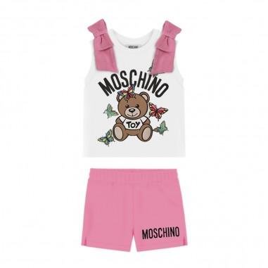 Moschino Kids Completo Canotta Shorts Neonata - Moschino Kids mdg003lba00-moschinokids20