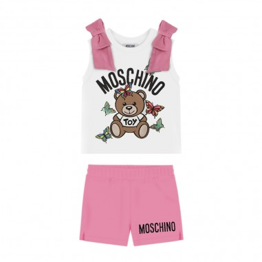 Moschino Kids Girls Top Tank & Shorts Outfit - Moschino Kids mdg003lba00-moschinokids20