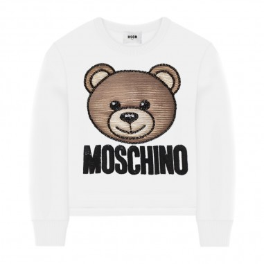 Moschino Kids Felpa Bianca Bambina - Moschino Kids hdf02glda12-moschinokids20