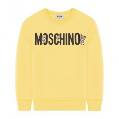 Moschino Kids Felpa Scritta Gialla - Moschino Kids hmf039lda00-moschinokids20