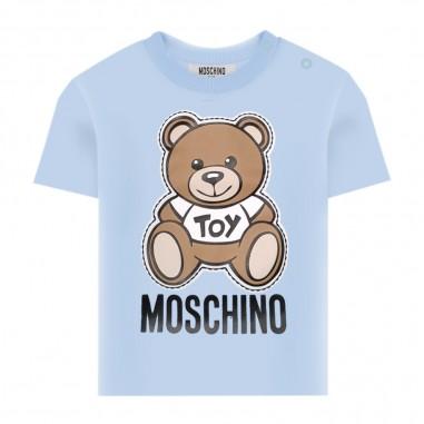 Moschino Kids Maxi T-Shirt Celeste Neonato - Moschino Kids mom01nlba00-moschinokids20