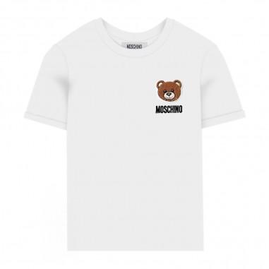 Moschino Kids White Basic T-Shirt - Moschino Kids hmm02clba10-moschinokids20
