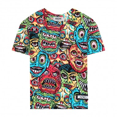 Moschino Kids Cartoon T-Shirt - Moschino Kids hom02qlbb32-moschinokids20