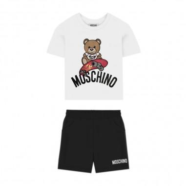 Moschino Kids Completo Neonato Bermuda T-Shirt - Moschino Kids mmg003lba10-moschinokids20