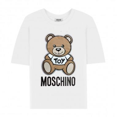 Moschino Kids T-Shirt Logo Bianca - Moschino Kids hwm029lba00-moschinokids20