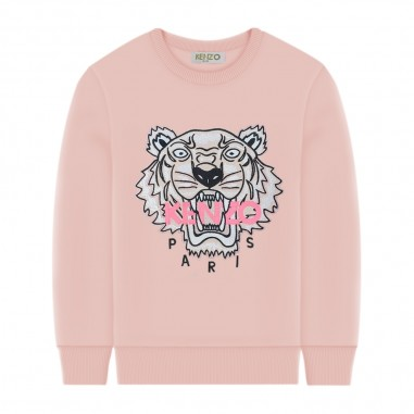 Kenzo Felpa Rosa Tiger Bambina - Kenzo kq15188-kenzo20