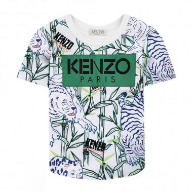 Kenzo Jimmy T-Shirt Neonato Disco Jungle - Kenzo kq10588-bb-kenzo20