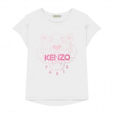 Kenzo T-Shirt Tiger Bianca Bambina - Kenzo kq10258-kenzo20