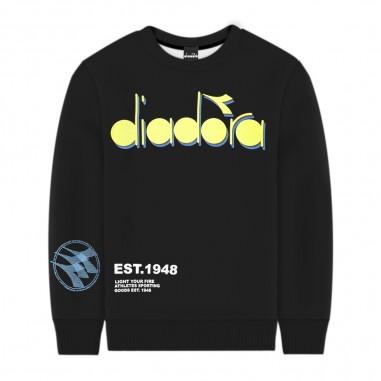 Diadora Boys Black Sweatshirt - Diadora 022313-diadora20