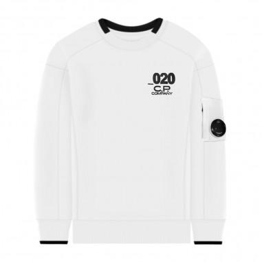 C.P. Company Kids Boys White Sweatshirt - C.P. Company Kids 08ckss018a003569w-cp20