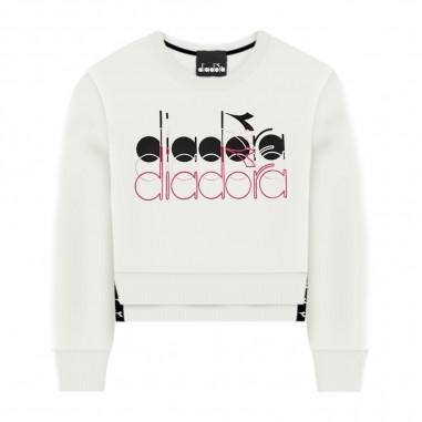 Diadora Girls White Sweatshirt - Diadora 022828-diadora20