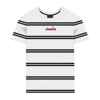 Diadora Boys Striped T-Shirt - Diadora 022340-diadora20