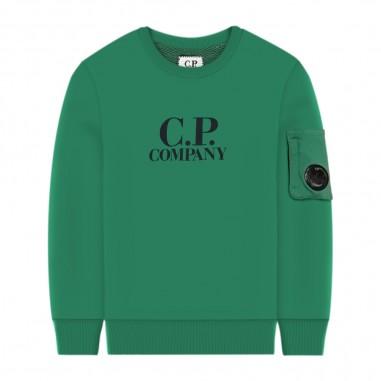 C.P. Company Kids Felpa Verde Bambino - C.P. Company Kids 08ckss012a003569w-cp20