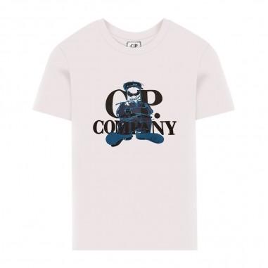 C.P. Company Kids Boys White T-Shirt - C.P. Company Kids 08ckts031a003568w-cp20