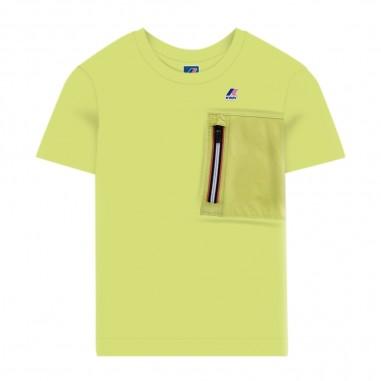 K-Way T-Shirt Verde Lime Bambino - K-Way k00beu0-v07-kway20