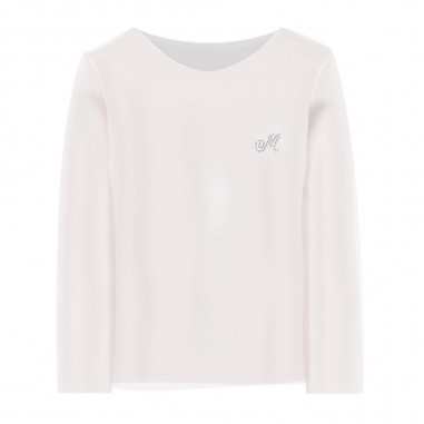 Monnalisa Girls Cream T-Shirt - Monnalisa 715611a1-0001-monnalisa20