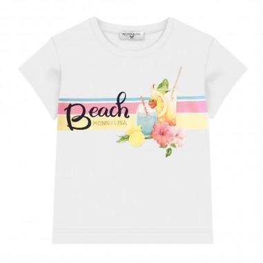 Monnalisa Girls Beach T-Shirt - Monnalisa 115641pg-monnalisa20