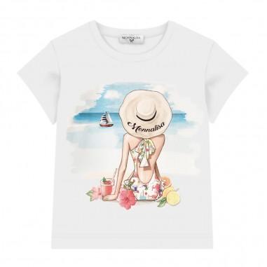 Monnalisa Girls Graphic T-Shirt - Monnalisa 115639pe-monnalisa20