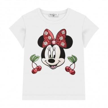 Monnalisa Girls Cherry T-Shirt - Monnalisa 195643pl-monnalisa20