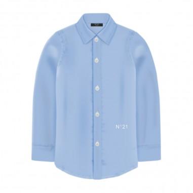 N.21 Kids Boys Light Blue Shirt - N.21 Kids n2148y-n21kids20