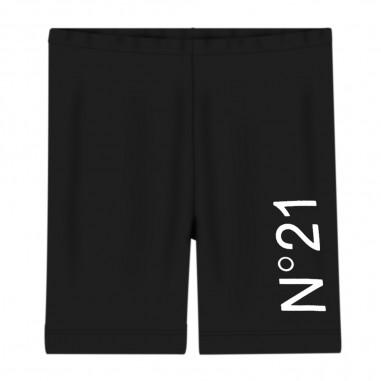 N.21 Kids Girls Black Cycling Pant - N.21 Kids n2147g-n21kids20