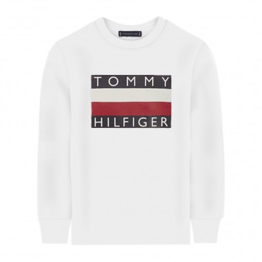 Tommy Hilfiger Kids Boys White Essential Sweatshirt - Tommy Hilfiger Kids kb0kb05426-white-tommy20
