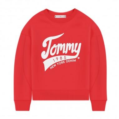 Tommy Hilfiger Kids Felpa Rossa Bambina 1985 - Tommy Hilfiger Kids kg0kg04955-tommyhilfigerkids20