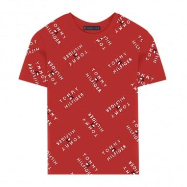 Tommy Hilfiger Kids T-Shirt Rossa Bambino - Tommy Hilfiger Kids kb0kb05747-tommyhilfigerkids20