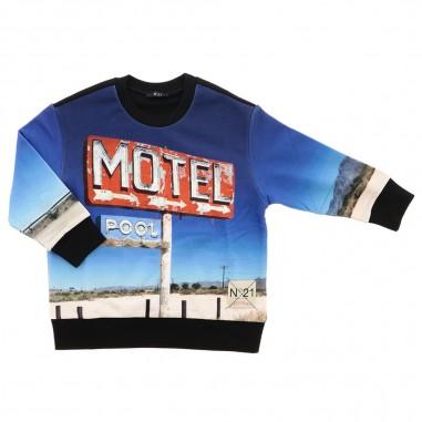 N.21 Kids Unisex motel sweatshirt by N.21 Kids n21432-n2129