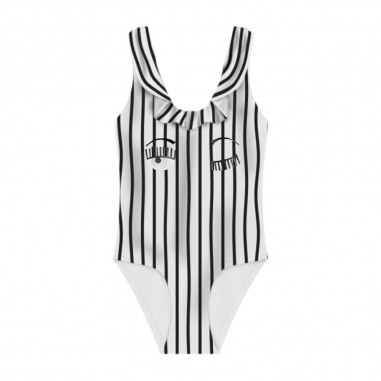 Chiara Ferragni Kids Girls Striped Swimsuit - Chiara Ferragni Kids cfkb005-chiaraferragnikids20