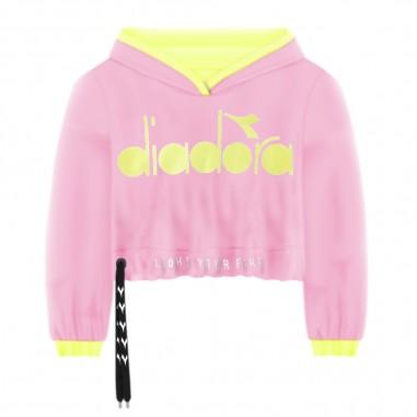 Diadora Girls Pink Sweatshirt - Diadora 022835-rosa-diadora20