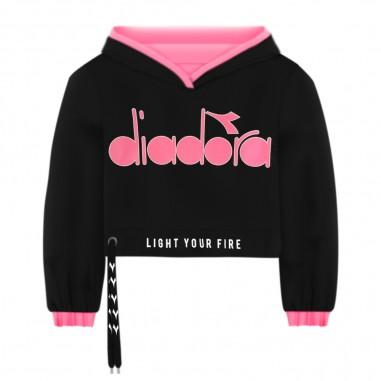 Diadora Felpa Nera Bambina - Diadora 022835-nero-diadora20