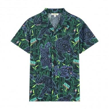 Kenzo Boys Disco Jungle Shirt - Kenzo kq12518-kenzo20